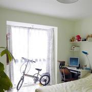 小户型田园卧室图