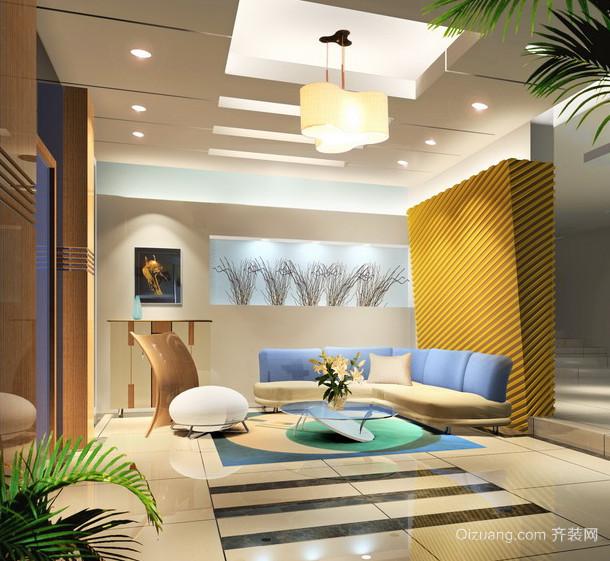 现代欧式大户型客厅吊顶装修效果图