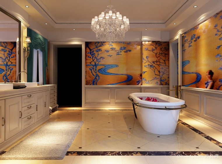 120平米大户型欧式浴室装修效果图实例欣赏