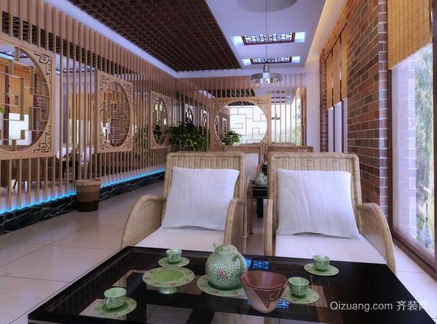 大型会所中式茶馆装修效果图
