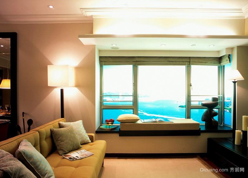 现代小户型客厅榻榻米飘窗装修效果图
