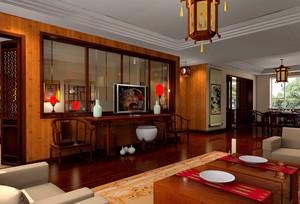 120平米轻快风格客厅装修效果图