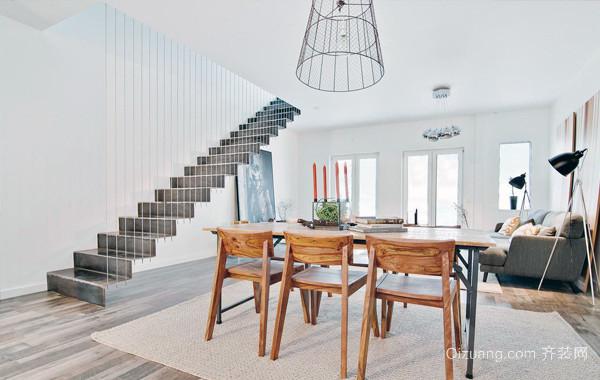 现代精致的欧式单身公寓装修效果图