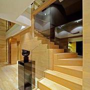 日式原木浅色复式楼装饰
