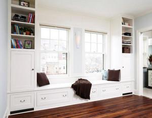 大户型家居飘窗书柜装修设计效果图