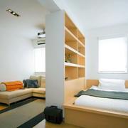 简约一居室卧室榻榻米装修效果图