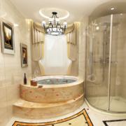 典雅时尚的大户型欧式卫生间装修效果图