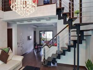 美式简约复式楼楼梯装饰