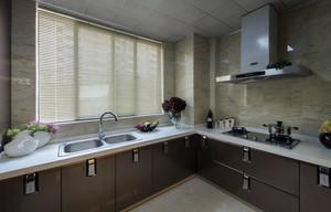 二居室暖色调厨房装修效果图