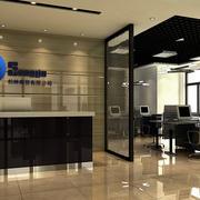 后现代奢华风格写字楼公司前台装饰图