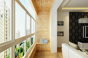 三居室自然风格阳台装修效果图