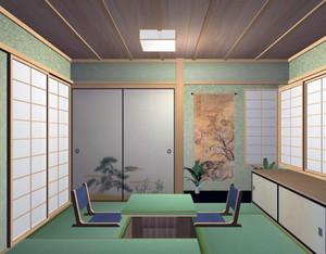 现代大户型时尚日式榻榻米床装修效果图