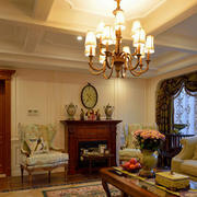 美式简约风格客厅吊顶装饰