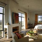 美式简约风格客厅窗户装饰