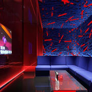 后现代风格ktv简约电视背景墙装饰