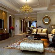 欧式客厅地板砖装修
