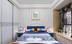 现代小户型儿童房飘窗装修设计效果图