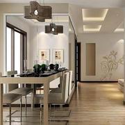 80平米小户型简约风格餐厅装修效果图