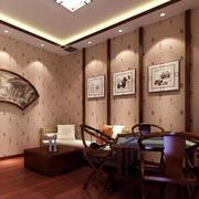 大型中式风格简约茶馆包间装修效果图