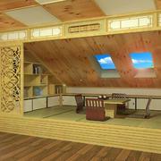 日式风复式楼阁楼榻榻米装修效果图