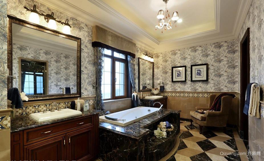 奢华别墅美式卫生间装修效果图