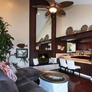 美式简约风格客厅家具装饰