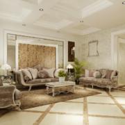 现代精致的大户型沙发背景墙效果图鉴赏