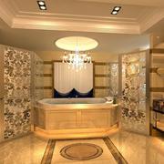 欧式豪华别墅大型卫生间装修效果图