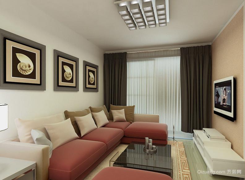现代简约大户型客厅装修效果图实例欣赏