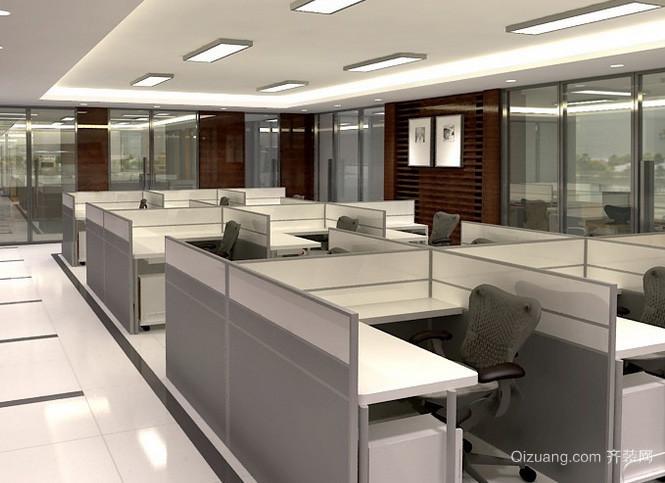 都市简约风格写字楼多人公共办公室装修效果图