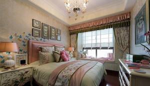 乡村风格舒适卧室飘窗装修设计效果图