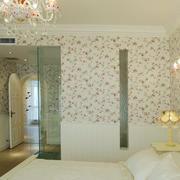 田园风格女生卧室壁纸装修效果图片大全