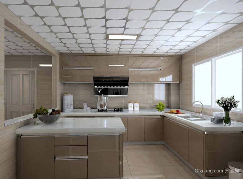 欧式大户型厨房设计装修效果图鉴赏
