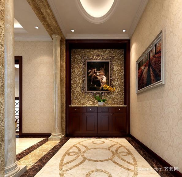 欧式奢华别墅进门玄关装修设计效果图