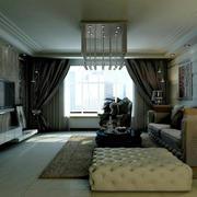 冷色调中式客厅图片