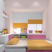 彩色欢快小户型儿童房榻榻米装修效果图