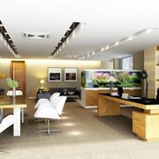 现代简约风格大型写字楼办公室装修效果图