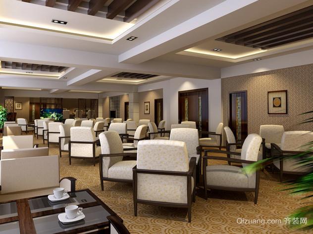 120平米中式简约风格北京茶馆装修效果图