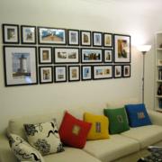 欧式大户型现代客厅照片墙效果图鉴赏