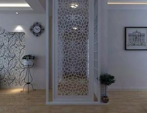 现代简约风格小户型客厅玄关隔断装饰图