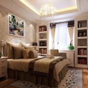 大户型豪华卧室飘窗书桌装修设计效果图