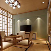大户型家居日式榻榻米茶室装修效果图