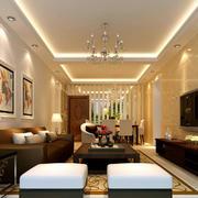 跃层简约风格客厅装修效果图