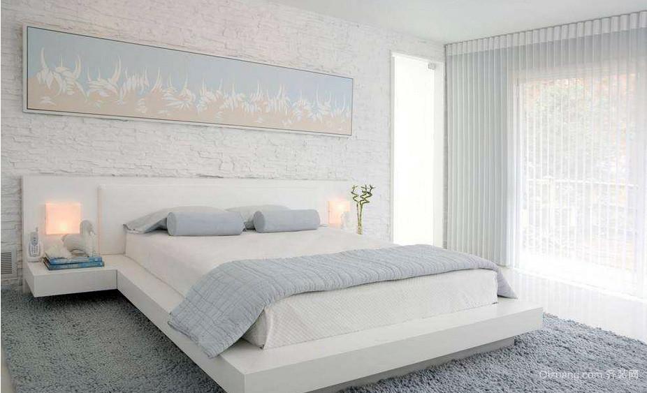 时尚大户型白色卧室榻榻米装修效果图