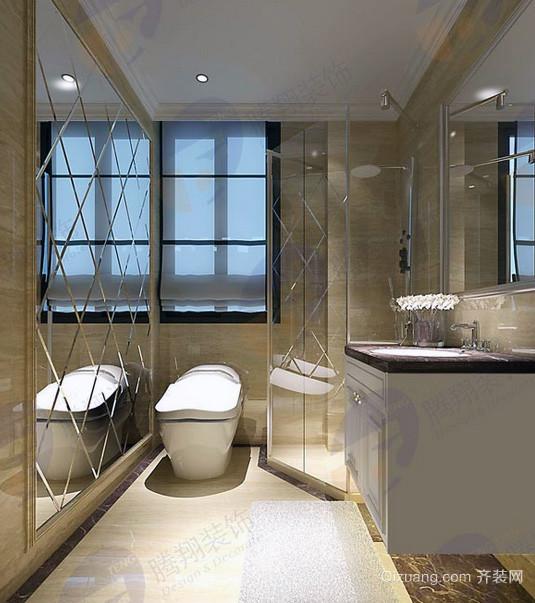 简欧风格70平米小户型卫生间装修效果图