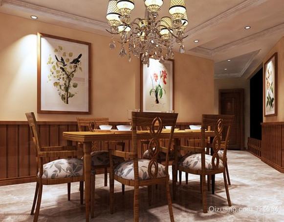 别墅美式简约风格餐厅样板房装修效果图