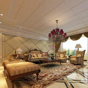 欧式客厅密集式吊顶装饰