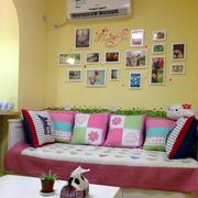 现代简约风格清新儿童房照片墙装修效果图