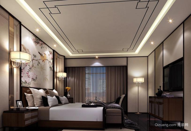 新中式儒雅大户型卧室装修效果图