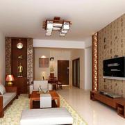 中式风格老年小公寓客厅装修效果图